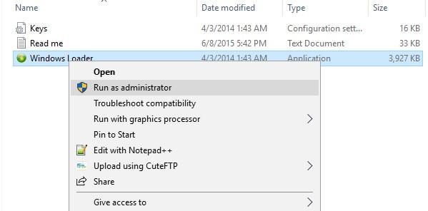 Tiến hành giải nén file phần mềm Windows Loader